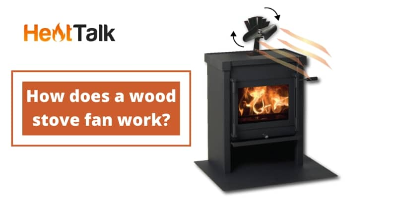 how does a wood stove fan work