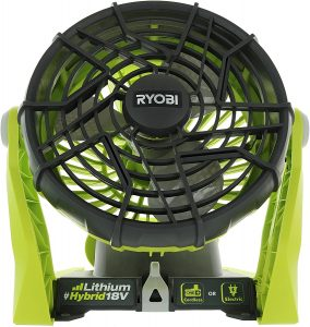 ryobi battery powered fan
